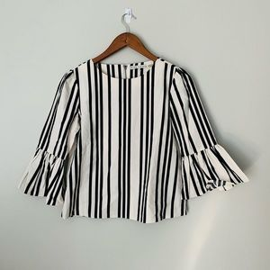 Alice + Olivia 3/4 Bell Sleeve Top
